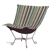 Chicago Textile Puff Chair-Ribbon Willow