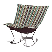 Chicago Textile Puff Rocker-Ribbon Willow