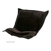 Chicago Textile puff chair replacement cover with cushion-Sable Ebony