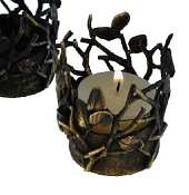 Silver Seasons Table Art Twig tealight holder-bronze