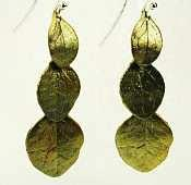 Irish Thorn Three-Leaf earrings by Michael Michaud for Silver Seasons