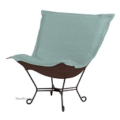 Howard Elliott Puff Chair-Sterling Breeze