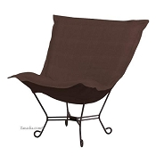 Howard Elliott Puff Chair-Sterling Chocolate