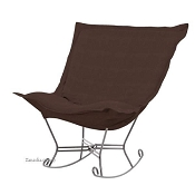 Howard Elliott Puff Rocker-Sterling Chocolate