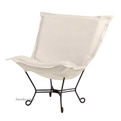 Howard Elliott Puff Chair-Sterling Sand