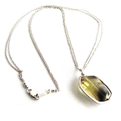 Green amethyst Sterling Silver Necklace by Dana Kellin