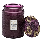 Voluspa Santiago Huckleberry Large Glass Jar Candle