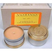 Votivo Set of 2 Travel Candles-Vanilla Grapefruit