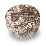 Voluspa Travel Candle Tin - Champaca Bloom & Fern