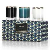 Voluspa 3 Votive Art Deco Gift Set-Margaret (Snow Flakes)