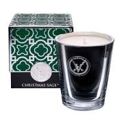 Votivo Christmas Sage Candle-Metallic Glass