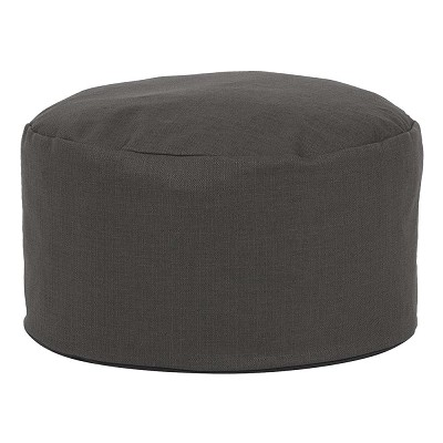Foot Pouf Sterling Charcoal -Howard Elliott