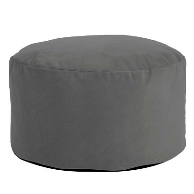 Foot Pouf Bella Pewter -Howard Elliott