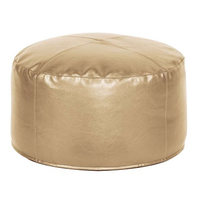 Foot Pouf Shimmer Gold -Howard Elliott