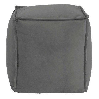 Square Pouf Bella Pewter -Howard Elliott