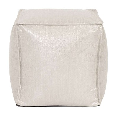 Square Pouf Glam Sand -Howard Elliott
