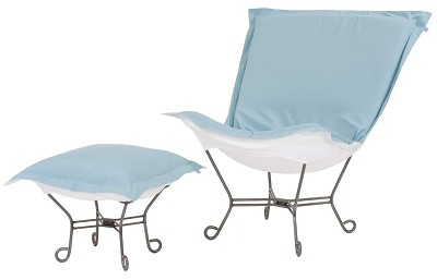 Chicago Textile Puff Chair-Starboard Breeze-Patio