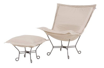 Chicago Textile Puff Chair-Starboard Stone-Patio