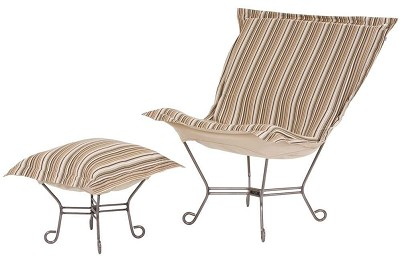 Chicago Textile Puff Chair-Sunfish Stone-Patio