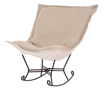 Howard Elliott puff rocker-Prairie Linen Natural
