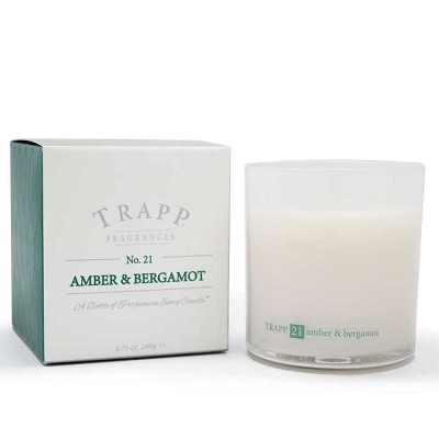 Trapp Candles No 21-Amber & Bergamot-8.75 Oz Poured Candle