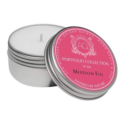 Aquiesse Mission Fig Soy 20 Hr Travel Tin Candle