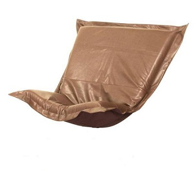 Linenfold puff chair replacement cover with cushion-Avanti Bronze