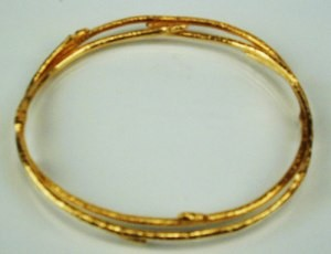 Catherine Weitzman Vermeil Branch Bangle Bracelet