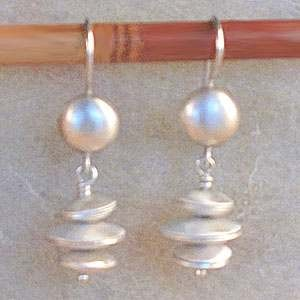 C-Anton Jewelry Hammered Saucers Earrings