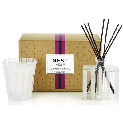 Nest Moroccan Amber Luxury Diffuser & Candle Gift Set