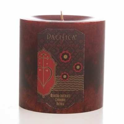 Pacifica Mexican Cocoa 3X3 Pillar Candle