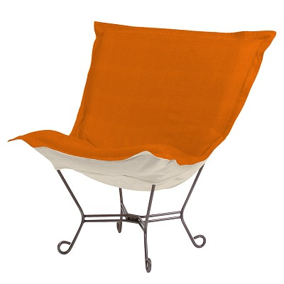 Howard Elliott Puff Chair-Sterling Canyon