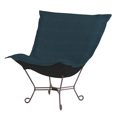 Howard Elliott Puff Chair-Sterling Indigo