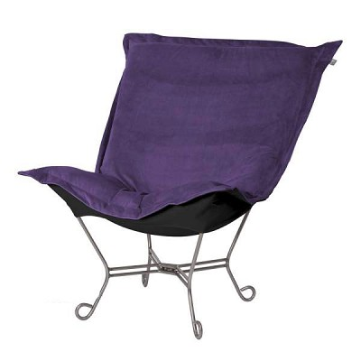 Howard Elliott Puff Chair-Bella Eggplant