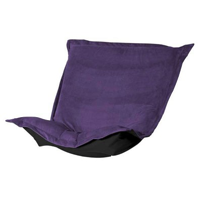 Puff Chair replacement cover with cushion-Bella Eggplant