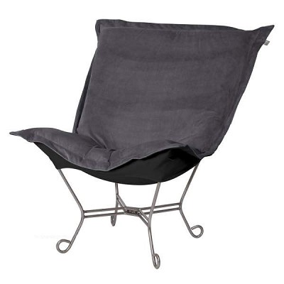 Howard Elliott Puff Chair-Bella Pewter