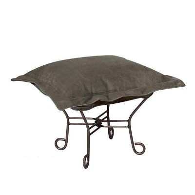 Howard Elliott Puff Ottoman-Bella Pewter