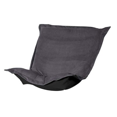 Puff Chair replacement cover with cushion-Bella Pewter