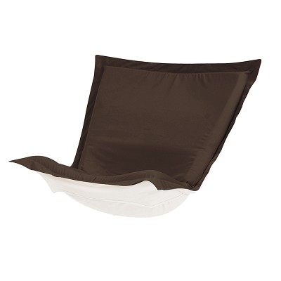 Puff Chair cover with cushion-Sunbrella Seascape Chocolate