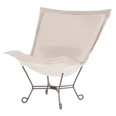 Howard Elliott Puff Chair-Sunbrella Seascape Sand