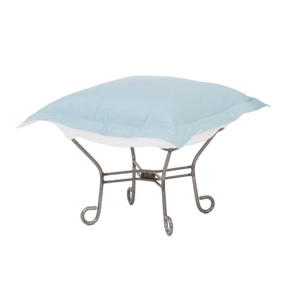 Howard Elliott Puff Ottoman-Sunbrella Seascape Breeze