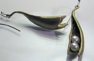 Baby Peapod Earrings by Michael Michaud for Silver Seasons