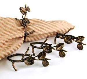 Silver Seasons Table Art Set of Four Twig Napkin Rings