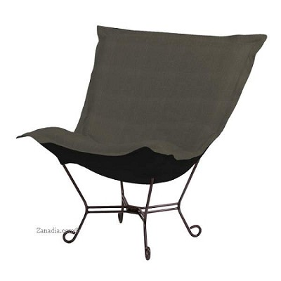 Howard Elliott Puff Chair-Sterling Charcoal