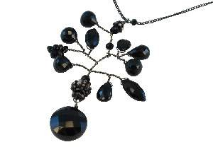 Black Garnet Branch necklace by Susan Goodwin