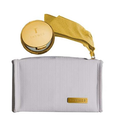 Thymes Goldleaf Compact & Cosmetic Pouch