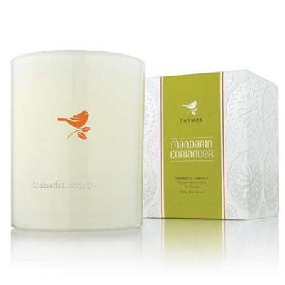 Thymes Mandarin Coriander White Candle