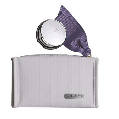 Thymes Lavender Compact & Cosmetic Pouch