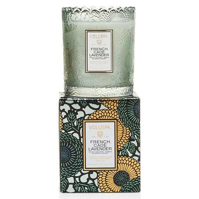 Voluspa French Cade & Lavender Scalloped Candle-Ltd Edition