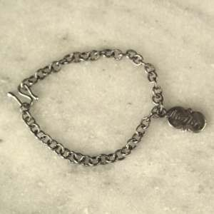 Baby Sterling Silver Mother Charm Handmade Bracelet